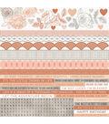 Peachy Cardstock Stickers 12\u0022X12\u0022