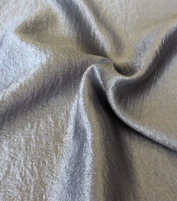 Casa Collection Crushed Satin Fabric 54''-Alloy