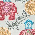PKL Studio Outdoor Fabric-Circus Medallion Fruit Punch