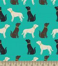 Labrador Retriever Print Fabric