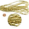 hildie & jo Seed Bead Hank, Metallic Gold, Multi-Sizes