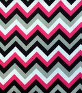 Snuggle Flannel Fabric -Chevron Beetroot