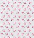 Nursery Flannel Fabric 42\u0022-White Floral