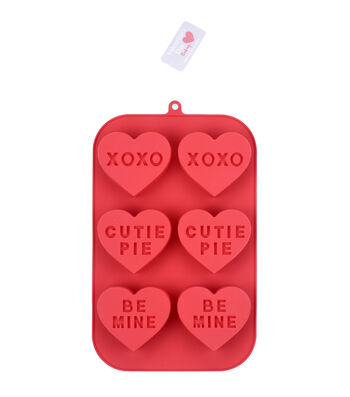 Valentine's Day Baking 11''x7'' Silicone Treat Mold-Conversation Hearts