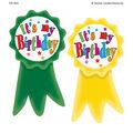 Teacher Created Resources Birthday Ribbons Wear \u0027Em Badges, 16/Pack