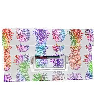 Photo Storage Box-Pineapple Rainbow