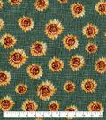 Harvest Cotton Fabric-Mini Tossed Sunflowers