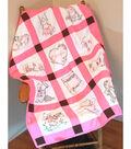 Fairway Needlecraft 12 pk 9\u0027\u0027x9\u0027\u0027 Stamped Baby Quilt Blocks-Cowgirls