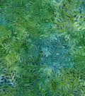 Legacy Studio Batik Cotton Fabric 43\u0022-Green Floral Leaf