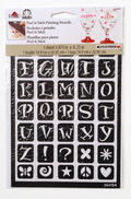 FolkArt 5.88\u0027\u0027x8.25\u0027\u0027 Peel & Stick Painting Stencils-Fun Alphabet