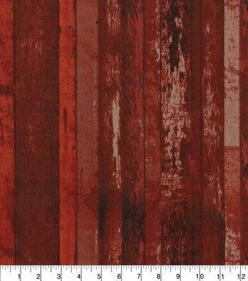 Keepsake Calico Cotton Fabric-Distressed Wood Red