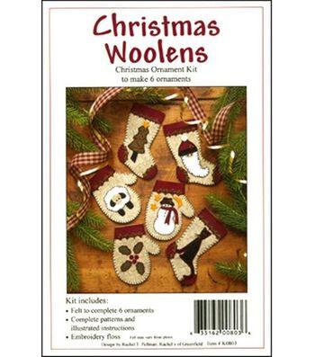 Christmas Woolens Ornament Kit-Set Of Six