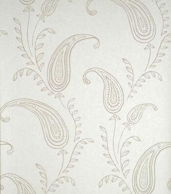 Majidah Cream Paisley Wallpaper