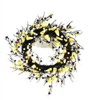 Maker's Halloween Candy Corn Wreath