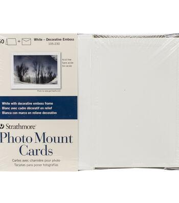 """Strathmore Cards & Envelopes 5""""X6.8"""" 50pk-White"""