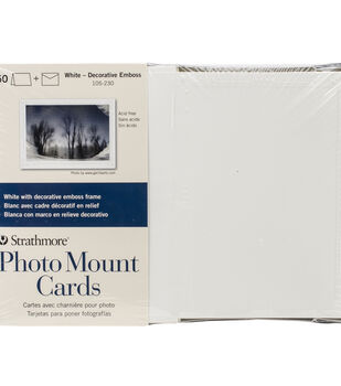"Strathmore Cards & Envelopes 5""X6.8"" 50pk-White"