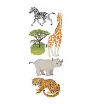 Touch Of Jolee's Dimensional Sticker-Safari Animals, , hi-res