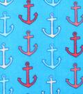 Novelty Fleece Fabric 59\u0022-Anchors Away