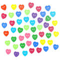 Jesse James Dress It Up Mini Button Embellishments-Simple Hearts