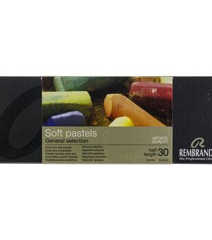 Rembrandt 30 pk Half Stick Extra Fine Soft Pastels-General Selection