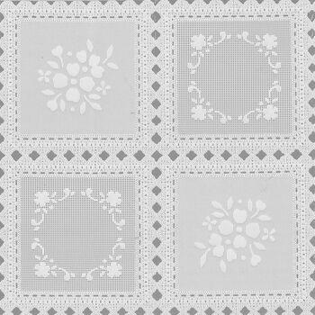 "Tablecloth Vinyl 54""-Squares White"