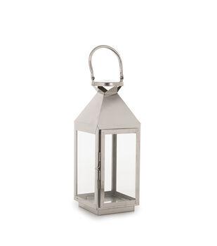 Hudson 43 Candle & Light Collection 5X17 Lantern Metal-Nickel