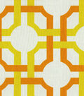 Home Decor 8\u0022x8\u0022 Fabric Swatch-Waverly Groovy Grille Citrus