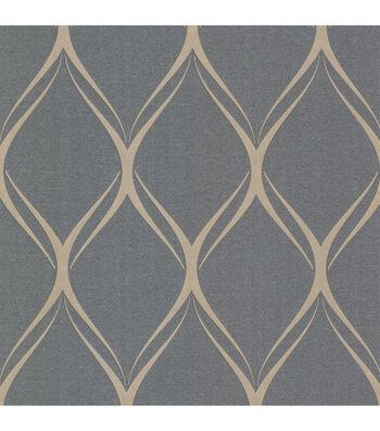 Gustav Silver Geometric Wallpaper