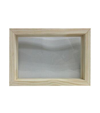 Unfinished Wood Framed Glass