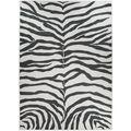 Ruggable Washable 5x7\u0027 Area Rug-Zebra Safari Black