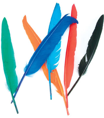 Midwest Design Indian Feathers 12/Pkg-Assorted Colors