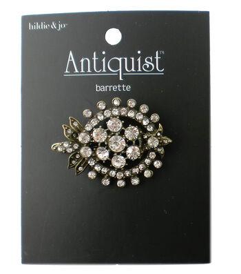 hildie & jo Antiquist Antique Gold Barrette-Clear Rhinestones
