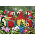 Novelty Cotton Fabric Panel 44\u0022-Tropical Friends