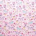 Super Snuggle Flannel Fabric-Unicorn Castle on Pink
