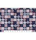 Snuggle Flannel Fabric -Baseballs Patchwork