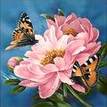 Collection D\u0027Art Diamond Embroidery/Printed/Gem Kit-Flower Sap