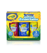Crayola Washable Finger Paint 8oz 3/Pkg-Primary Colors, , hi-res