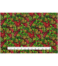 Christmas Cotton Fabric 43\u0022-Cardinal Pinecones
