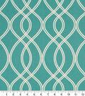 Robert Allen @ Home Print Swatch 55\u0022-Helix Ogee Turquoise