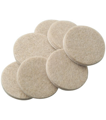 SoftTouch 16 pk 1'' Round Felt Pads-Oatmeal