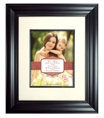 Wall Frame 16X20 To 11X14-Wide Bead Black