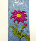 Fab Lab Wearables Daisy Iron-on Applique-Purple