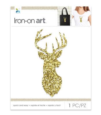 Momenta Deer Chunky Glitter Iron-on Art-Gold