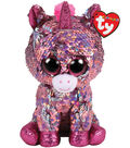 Ty Inc. Flippables Regular Sequin Sparkle Unicorn-Pink