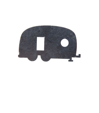 Simply Spring 3.7''x2.2'' Unfinished Metal Camper