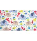 Micro Fleece Fabric 59\u0022-Happy Elephant