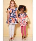 McCall\u0027s Pattern M7526 Girls\u0027 Peasant Tops-Size 7-8-10-12-14