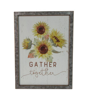 Simply Autumn Wall Decor-Sunflowers & Gather Together