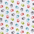 Snuggle Flannel Fabric -Colorful Owls in Glasses
