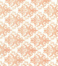 Quilter\u0027s Showcase Cotton Fabric -Peach Nectar Damask